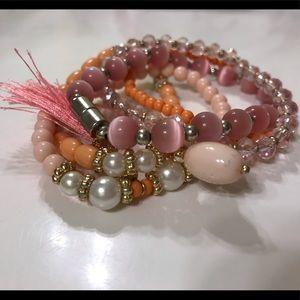 pink bracelet bundle!!